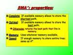sma properties