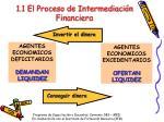 1 1 el proceso de intermediaci n financiera