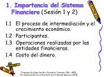 1 importancia del sistema financiero sesi n 1 y 2