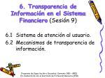6 transparencia de informaci n en el sistema financiero sesi n 9
