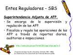 entes reguladores sbs2