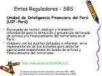 entes reguladores sbs3