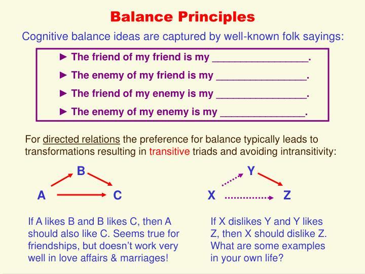 Balance Principles