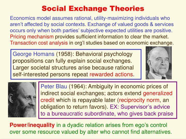 Social Exchange Theories