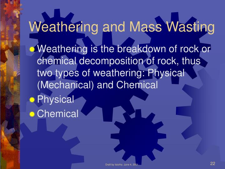 Weathering and Mass Wasting