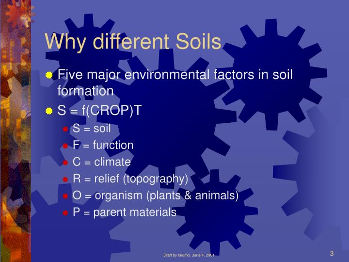 Why different soils