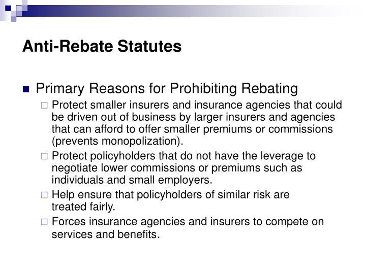 Anti-Rebate Statutes