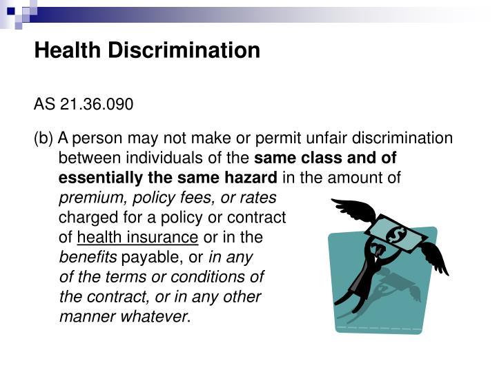 Health Discrimination
