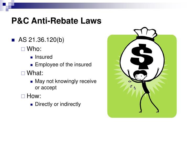 P&C Anti-Rebate Laws