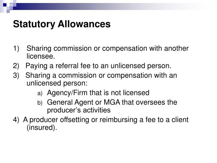 Statutory Allowances