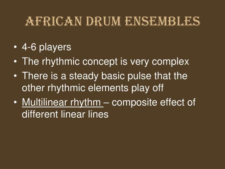 AFRICAN DRUM ENSEMBLES