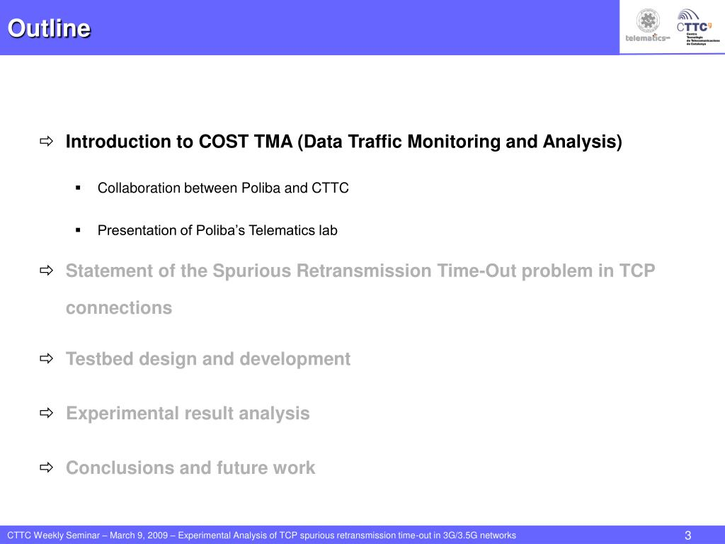 PPT - Experimental Analysis of TCP Spurious Retransmission