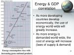 energy gdp correlation