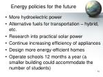energy policies for the future