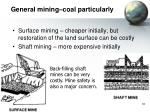 general mining coal particularly