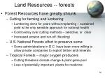 land resources forests