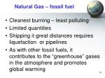 natural gas fossil fuel