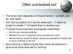 often overlooked soil