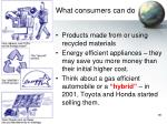 what consumers can do