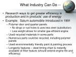 what industry can do