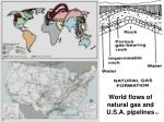 world flows of natural gas and u s a pipelines