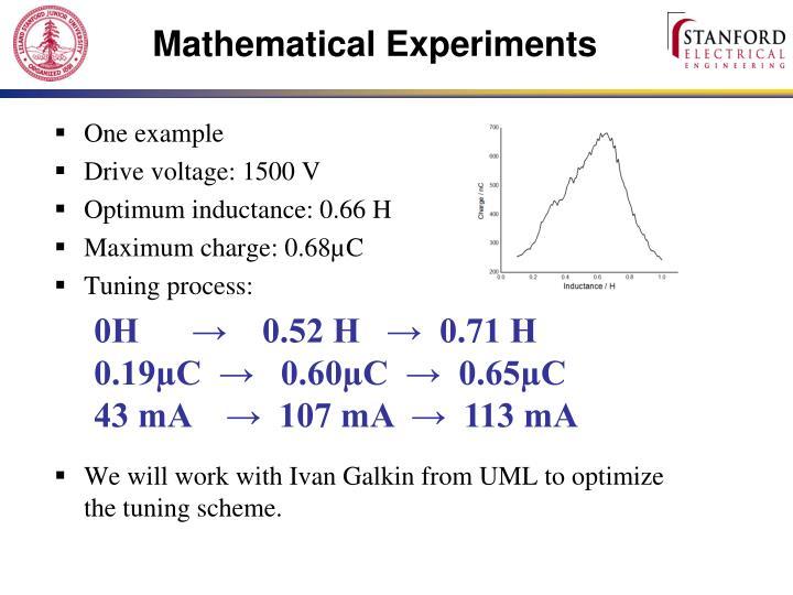 Mathematical Experiments