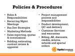 policies procedures