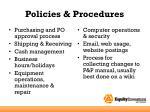 policies procedures1