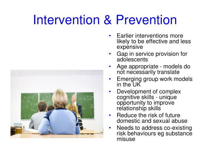 Earlier interventions more likely to be effective and less expensive