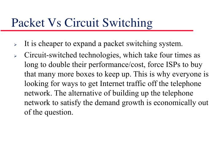 Packet Vs Circuit Switching