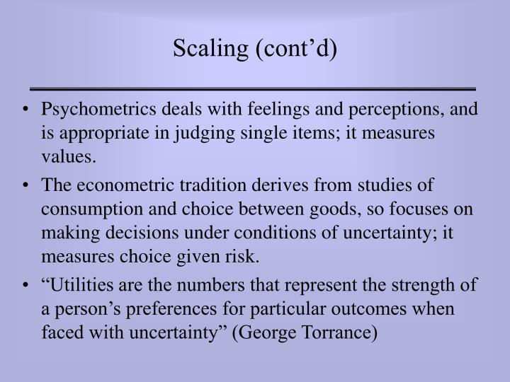 Scaling (cont'd)