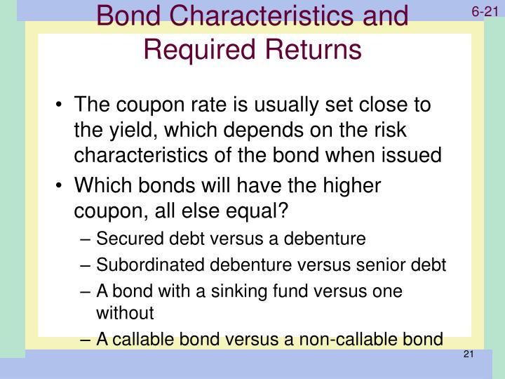 Bond Characteristics and