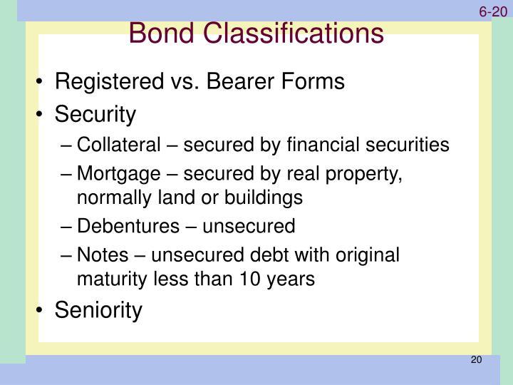 Bond Classifications