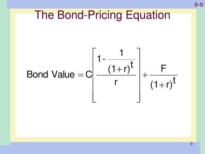 The Bond-Pricing Equation