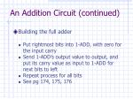an addition circuit continued1