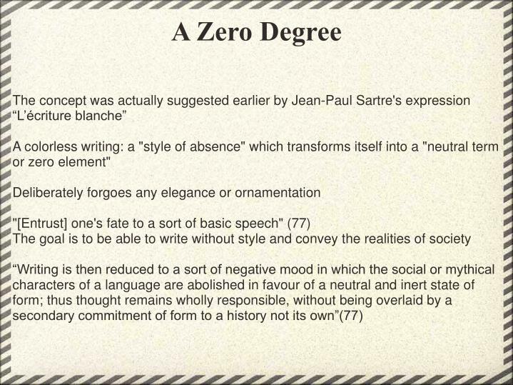A Zero Degree