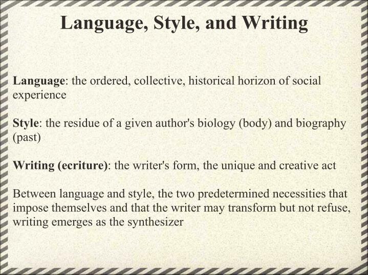 Language, Style, and Writing