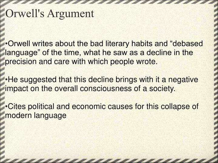 Orwell's Argument