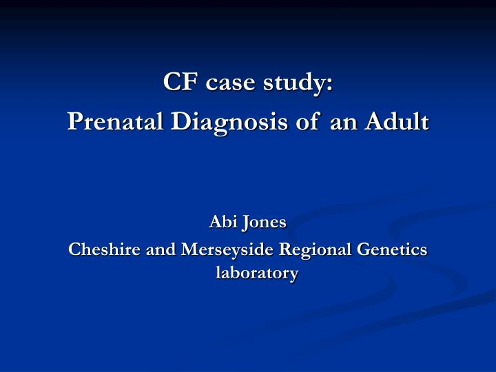 diagnosis case study Differential diagnosis mr jones met criteria a through e for bipolar disorder i mr jones had no underlying diagnostic case study: mr jones 5 ©2010.