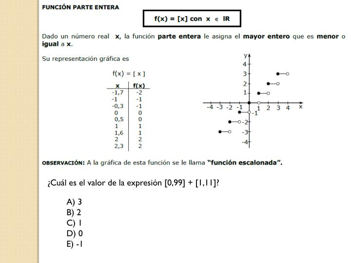 ¿Cuál es el valor de la expresión [0,99] + [1,11]?