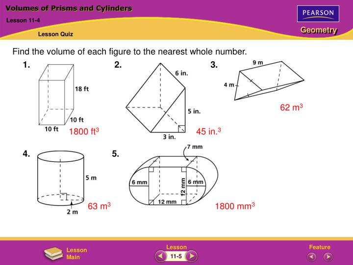 PPT   Volumes of Prisms and Cylinders PowerPoint ...