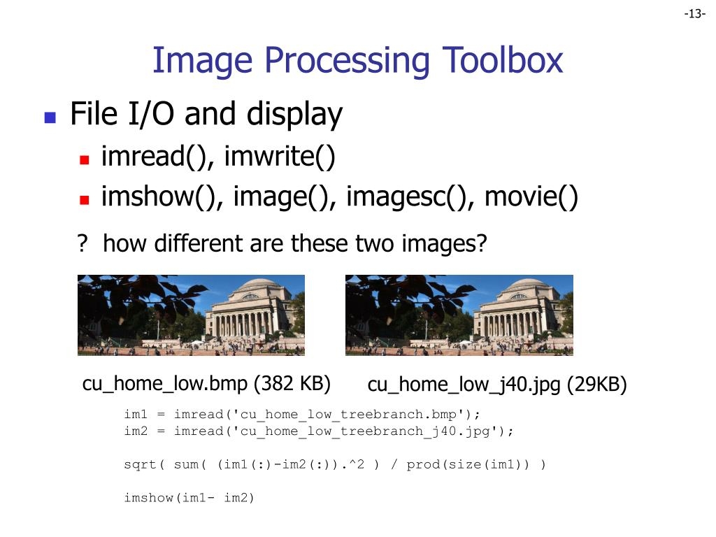 PPT - Tools and Prerequisites for Image Processing PowerPoint