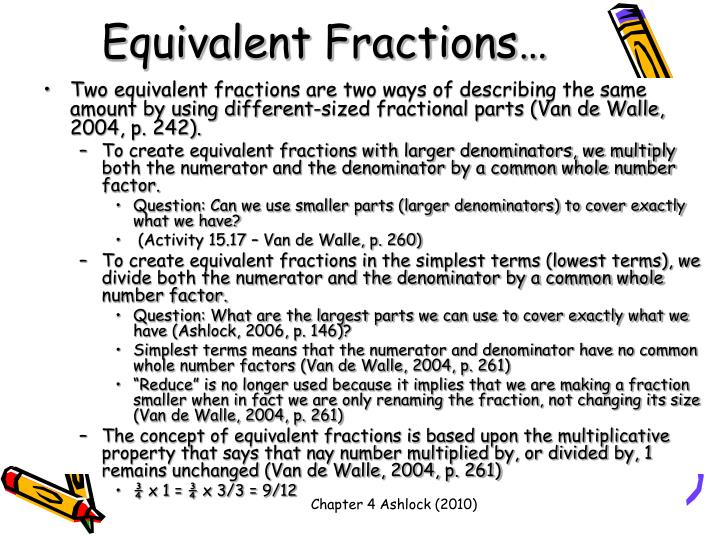 Equivalent Fractions…