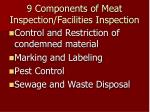 9 components of meat inspection facilities inspection1