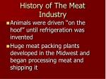 history of the meat industry1