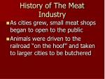 history of the meat industry2