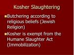 kosher slaughtering