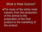 what is meat science