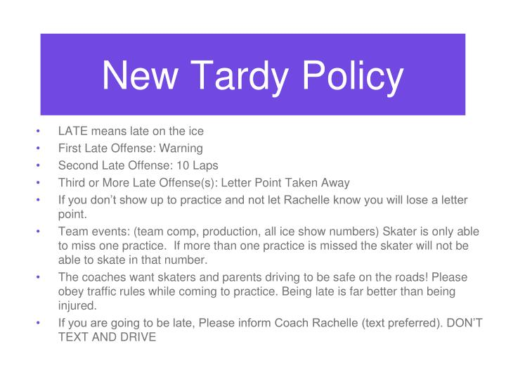 New Tardy Policy