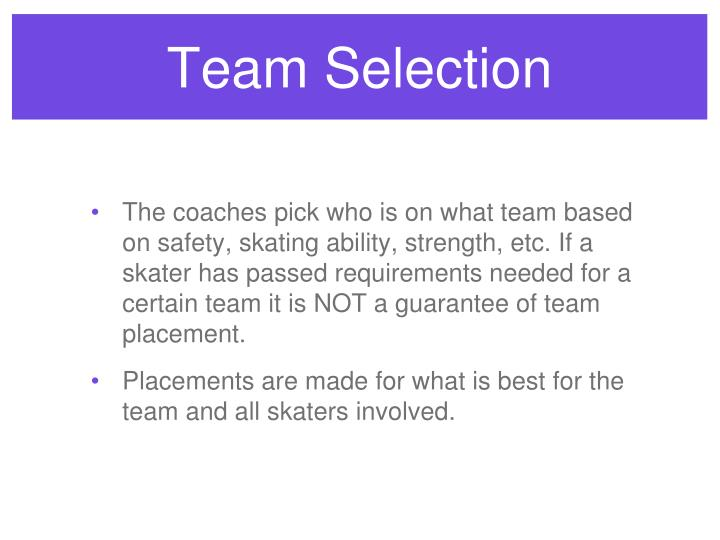 Team Selection